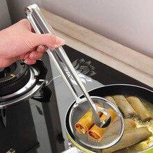 Colador de acero inoxidable Clip para alimentos freidor de bocadillos colador para bufet o barbacoa pinzas para servir freír malla colador filtro escurridor de aceite