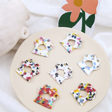 2 pcs new design hot-sales cream particles lovely cat claw resin pendant cartoon earrings for women girls jewelry accessories