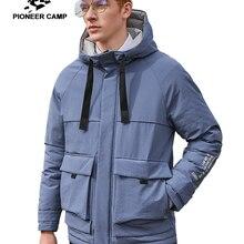 Pioneer Camp Warm Fleece Down Jacket for Men Winter Hooded Z