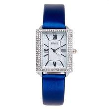 Fashion Ladies Quartz Watch Crystal Square Watch Clock