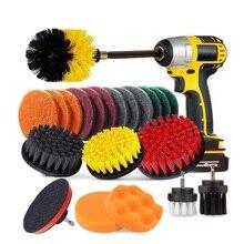 Almohadillas de limpieza multiusos, limpiador eléctrico para todo tipo de superficies y usos, accesorio para limpiar de piscinas, con taladro inalámbrico y cepillos para pulir, 31 piezas