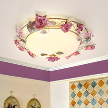 Flower Glass Ceiling Lights LED illumination home Lighting fixtures living room lamps Girls bedroom Rose Ceiling lighting D76