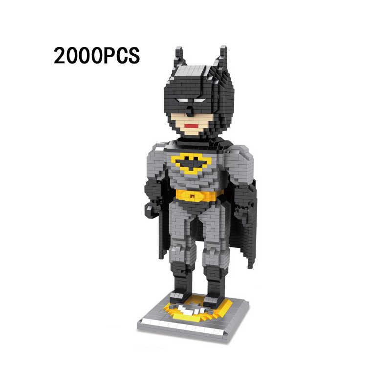 Hot dc super heroes Justice League superman batman figuras modelo de blocos de construção de diamante micro nano bricks educação brinquedo para o presente
