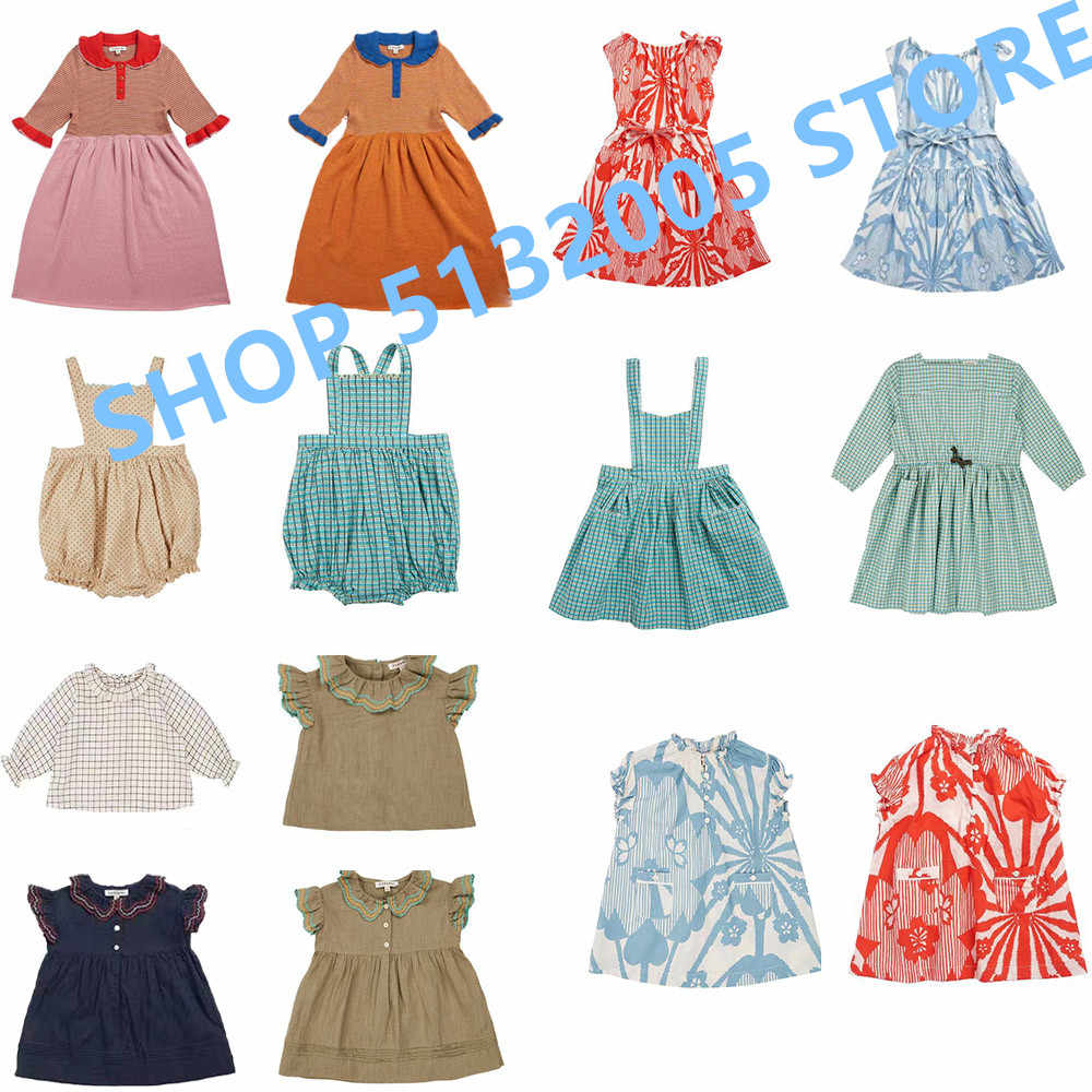 Presale 2020 Spring/summer CBC Same Short Sleeved Girls Dress Knit Princess Dress Knee-Length