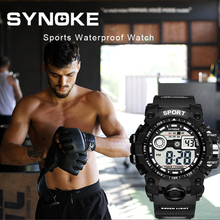 SYNOKE Sports Men Digital Watch G Military Army Casual LED Count Down W