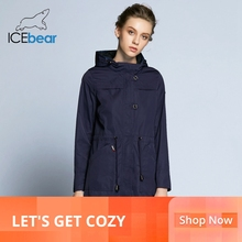 ICEbear 2019  New Arrival Autumn Trench Coat Solid Color Woman Fashion