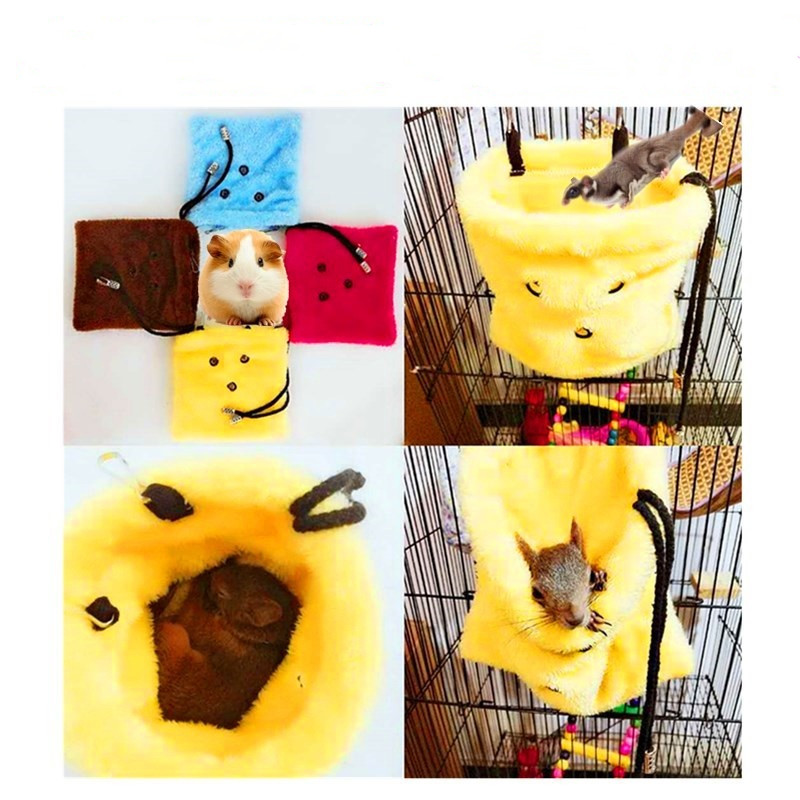Winter Pet Hamster Hanging House Hammock Can Carry Small Animal Dual-use Sleeping Bag Squirrel Hedgehog Cage Accessories