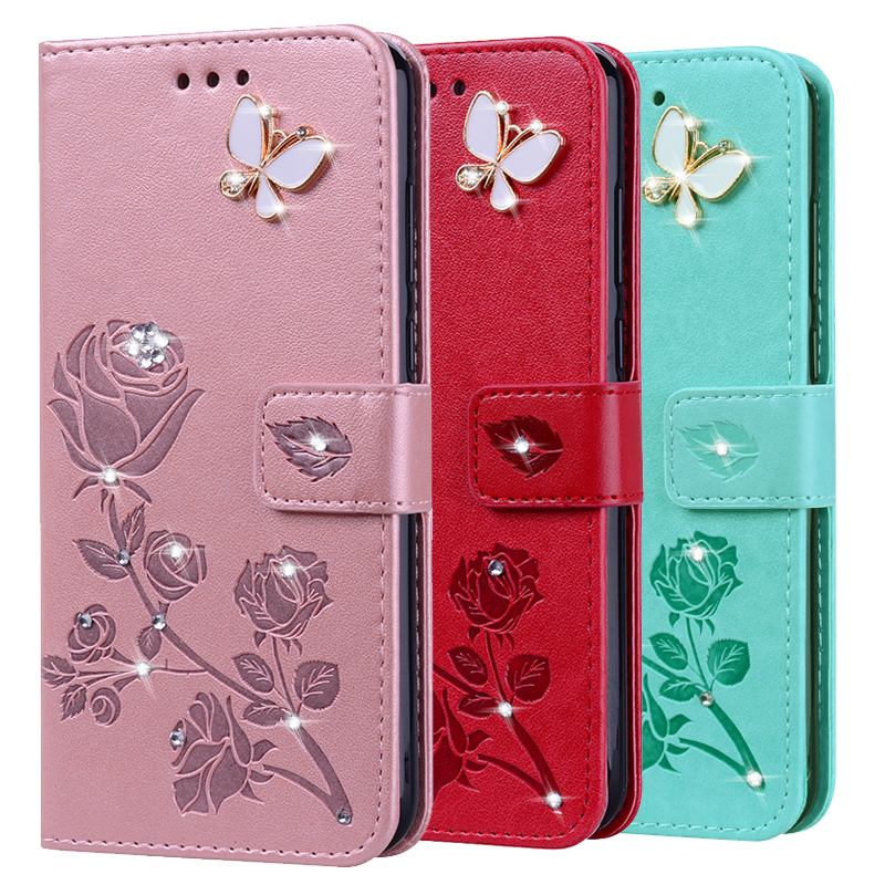 Coque Flower Rose Leather <font><b>Case</b></font> for Huawei <font><b>Honor</b></font> 6A 5A Play 5X 6X P10 Selfie Lite Enjoy 5 5s 6 6s 7 Plus <font><b>7S</b></font> <font><b>Silicone</b></font> Soft Cover image
