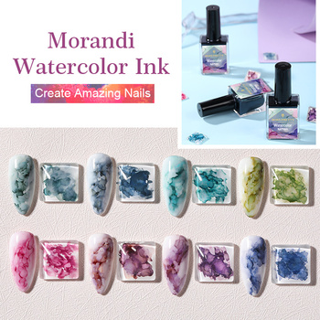 BORN PRETTY Blossoming Gel Nail Polish Watercolor Ink Nail Polish Marble Series Nail-Primer Prep Base Coat Top Coat Nail Art Gel недорого