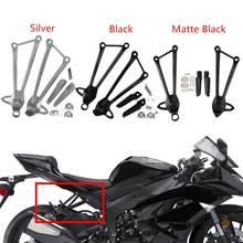 Motocykl czarny/srebrny stopa tylnego podnóżka kołki wspornik dla Kawasaki Ninja ZX10R 2008-2010 ZX6R 2009-2017 16 15 14 13 12 11 10