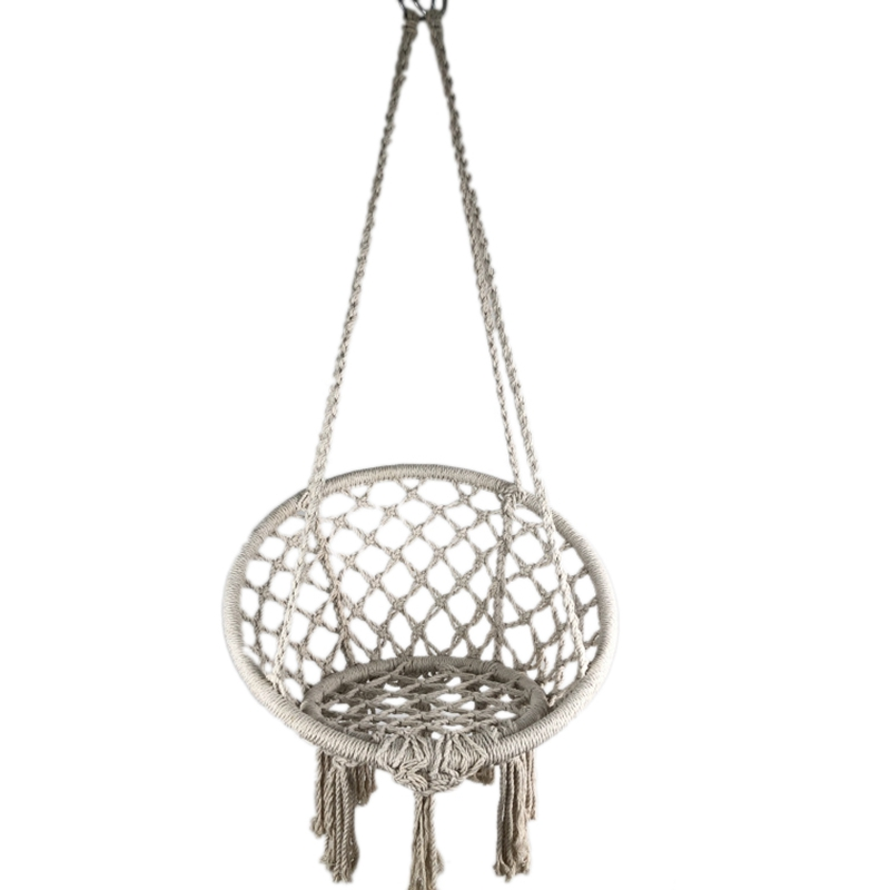 Indoor Outdoor Hammock Chair Macrame Swing,Cotton Rope Hanging Chair Swing Chairs,Baby Cradle,Pets Bed