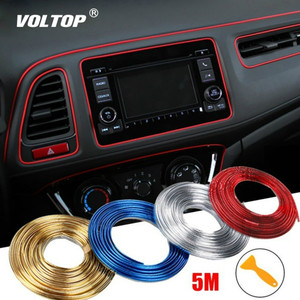 5m Bright Trim Strip Car Decoration Interior Line Girl Car Accessories Pendant Dashboard Ornaments Door Panel Gap