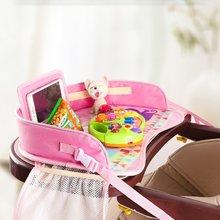 Многофункциональный мультяшный автомобильный безопасный поднос для сиденья, водонепроницаемый держатель для коляски, детская игрушка, еда, стол для напитков, портативное автомобильное детское сиденье
