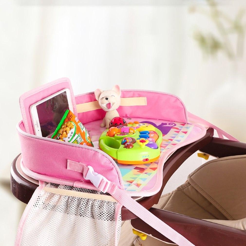 Многофункциональный мультяшный автомобильный безопасный поднос для сиденья, водонепроницаемый держатель для коляски, детская игрушка, ед...