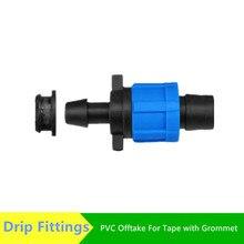 """Dn17 Tape Offtake Connector Met Tule 5/8 """"(16Mm) tape Swivel Drip Tape Fittings Voor Tuin Watering Drip Fittings"""