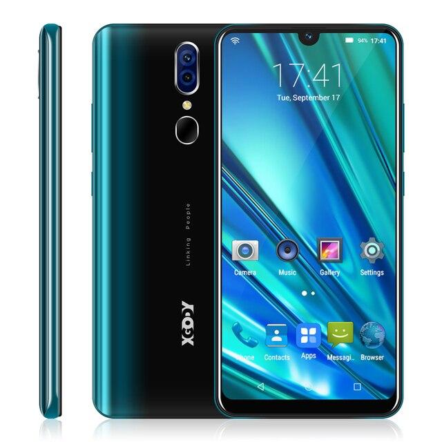 "XGODY 6.26"" 19:9 Waterdrop Smartphone 3G Android 9.0 2GB 16GB Mobile Phone MTK6580 Quad Core Dual SIM 5MP WiFi Cell Phones 9TPro"