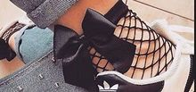 Hot Sale Fashion Mesh Lace Fish Net Short Socks Women Black Butterfly Net Socks Ruffle Fishnet Ankle High Socks striped hem net socks