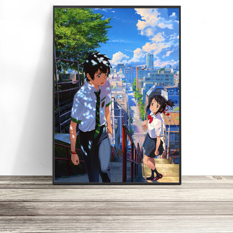 Nordic-Print-Home-Decor-Painting-Anime-Your-Name-Picture-Wall-Art-Modular-Canvas-Watercolor-Poster-Modern (1)