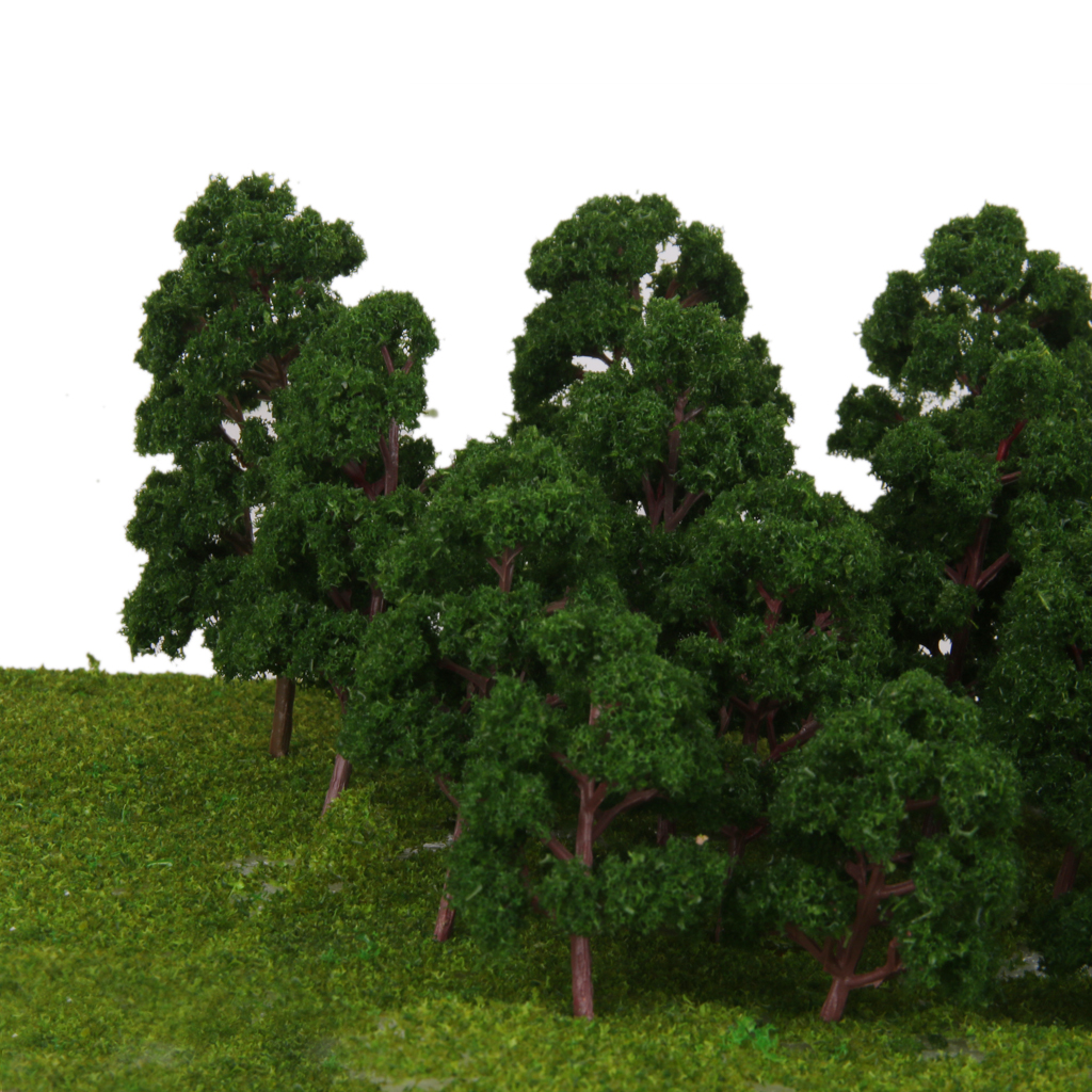 20 escala mista modelo árvores trem parque ferroviário cenário layout ho n z calibre