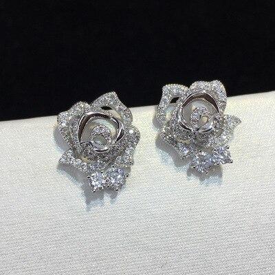 Купить женские серьги гвоздики из серебра 2019 пробы