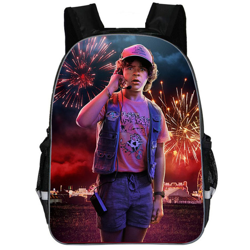 3 PCS Set School Backpack For Teenage Boy Stranger Things Backpack Schoolbag With Pencil Case And Bag Kids School Bag Orthopedic in School Bags from Luggage Bags