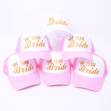 Bachelorette Party Baseball Cap Wedding Team Bride To Be Bridesmaid Soft Slippers Wedding Decoration for Hen Night Bridal Shower