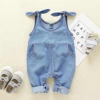 Odzież dla dzieci odzież dla niemowląt spodnie dla niemowląt spodnie dla dziewczynek denimowe fartuchy dżinsy ogrodniczki dziecięce pajacyki 0-18M tanie i dobre opinie CN (pochodzenie) Kobiet W wieku 0-6m 7-12m 13-24m wax97 Pełnej długości Overalls for children winter Overalls for boy