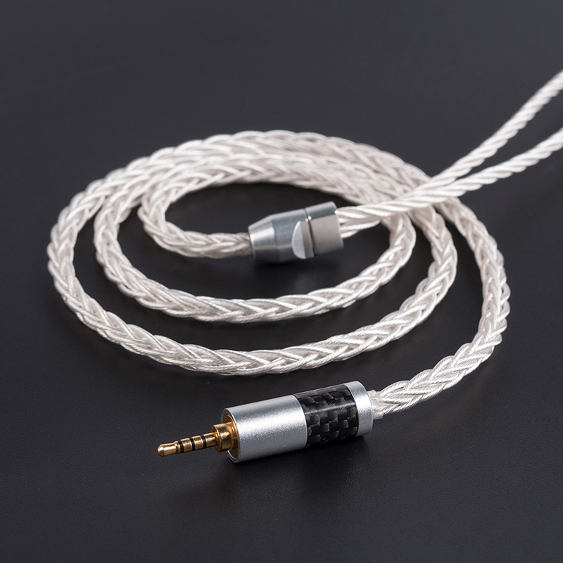 Yinyoo 8 Core 7N Single Crystal Copper Upgraded Cable  2.5/3.5/4.4MM  With 2PIN/MMCX Connector For AS10  TIN T2 T3 C16 Blon-03