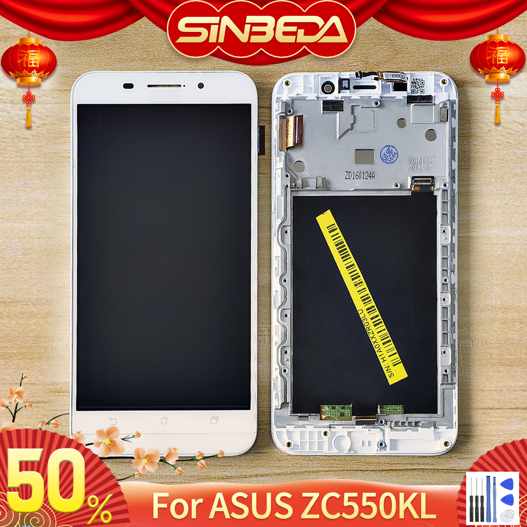 Original 5.5''LCD For ASUS Zenfone Max ZC550KL Z010DA LCD Display Touch Screen Digitizer Assembly Frame For ASUS ZC550KL Display