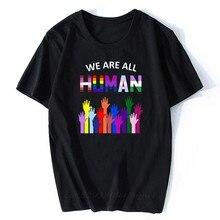 Nous sommes tous Les hommes LGBT Gay Les T-shirt arc-en-ciel à manches courtes hauts Hipster hommes T-shirt esthétique Tumblr Harajuku mode t-shirts