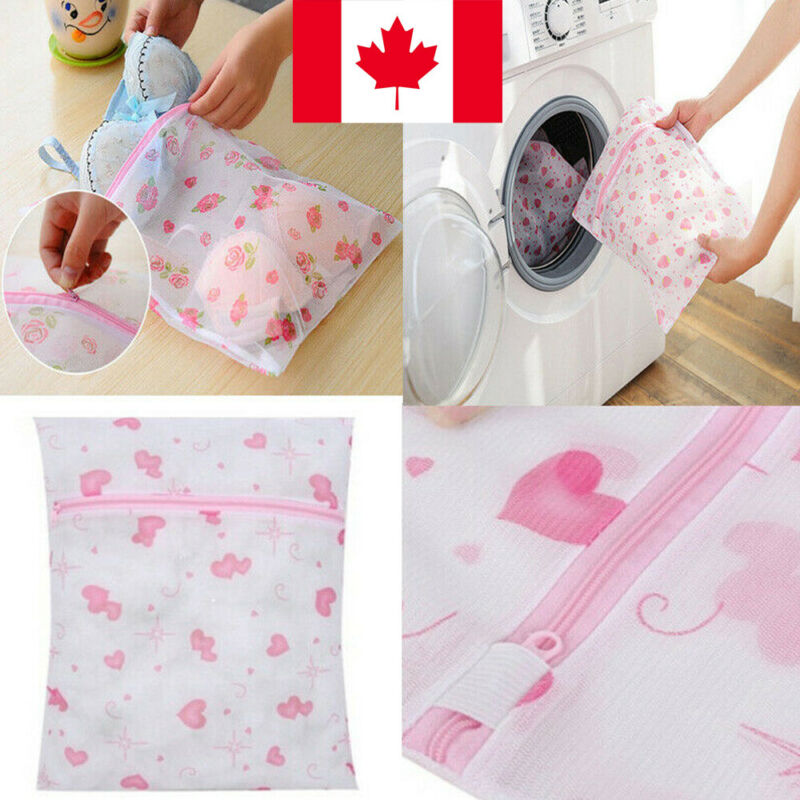 New Zipped Laundry Washing Bag Mesh Net Wash Lingerie Underwear Bra Socks Convenient Home Laundry Bag