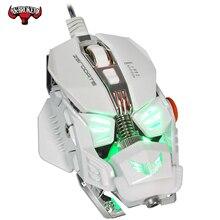 Профессиональная Проводная игровая мышь 4000DPI Регулируемая Программа USB Gamer Mice светодиодный оптический датчик подсветки для ноутбука