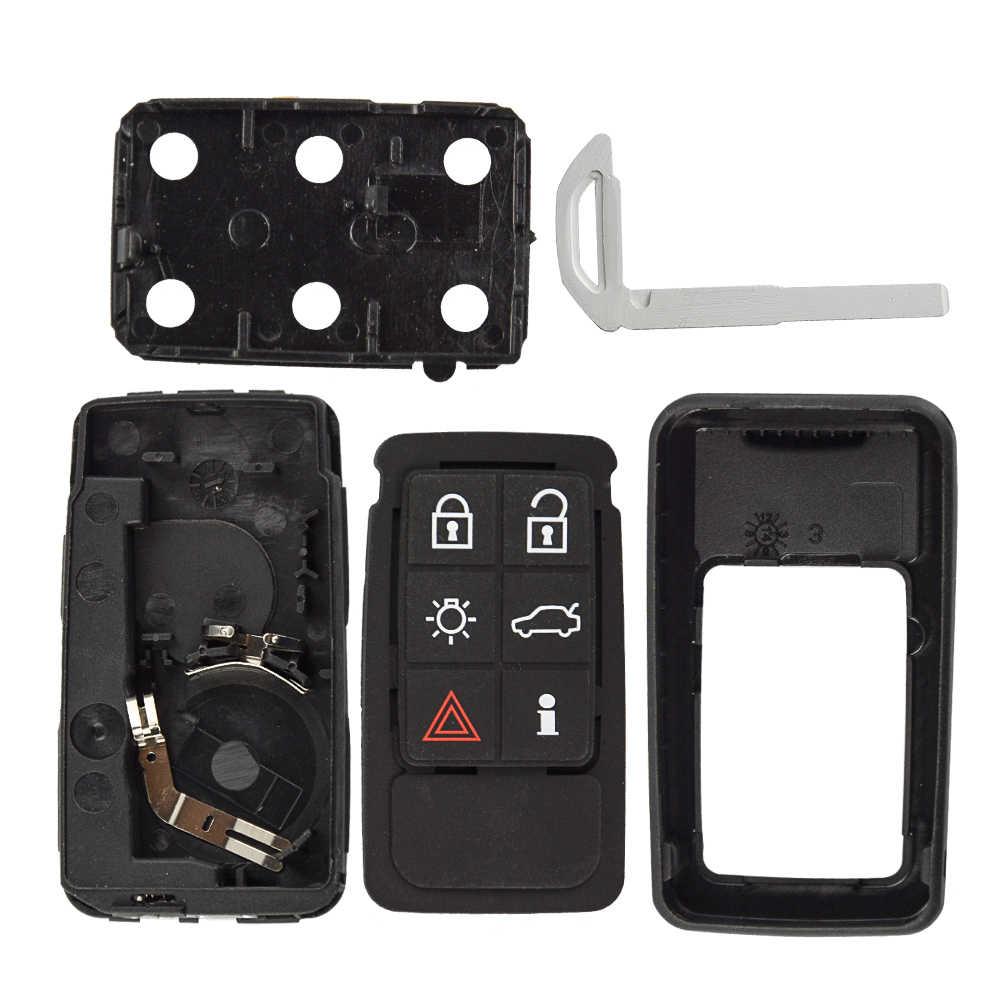 OkeyTech עבור וולוו XC60 XC40 S90 V40 XC70 V70 S40 V50 מרחוק רכב חכם מפתח Fob כיסוי מקרה החלפת מחזיק 5 6 כפתורי כרית