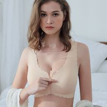 Slim traceless front button sports underwear, womens steel ring bra, beautiful back bra, gathering, sexy receptacle and anti sa