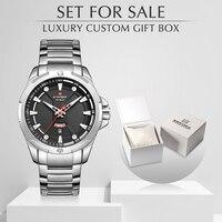 Männer Uhren Set für Verkauf NAVIFORCE Analoge Uhr Männer mit Box Edelstahl Wasserdicht Quarz Armbanduhr Relogio Masculino