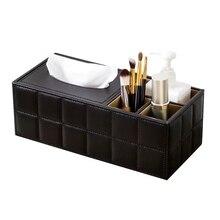 Коробка для салфеток из искусственной кожи, держатель для салфеток, органайзер для дома, офиса, стола, держатель для хранения, коробка для ручек, пульт дистанционного управления, чехол для салфеток