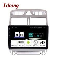 """Idoing 9 """"2.5D Xe Android9.0 Đa Phương Tiện Cho Xe Đạp Peugeot 307 307CC 307SW 2002 2013 PX5 4G + 64G 8 Đồng Hồ Định Vị GPS TDA7850"""