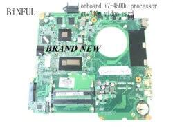BiNFUL ,100% nouveau, ,737986-501 DA0U82MB6D0 pour carte mère d'ordinateur portable HP pavillon 15-N, I7-4500U GT 740M 2gb.(stock. Qualifié ok)