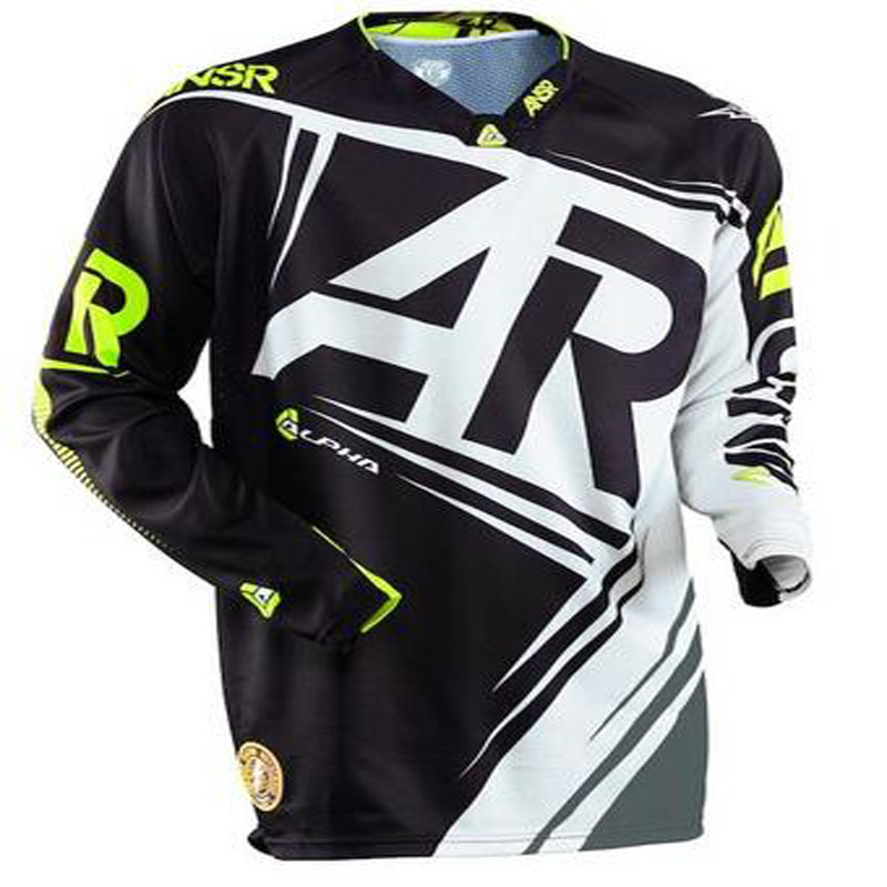 2020 Long Sleeve Moto Jersey DH MX BMX Mountain Bike Moto Jerseys/Motocross ATV Cross Country Racing Moto Breathable Mens Shirt
