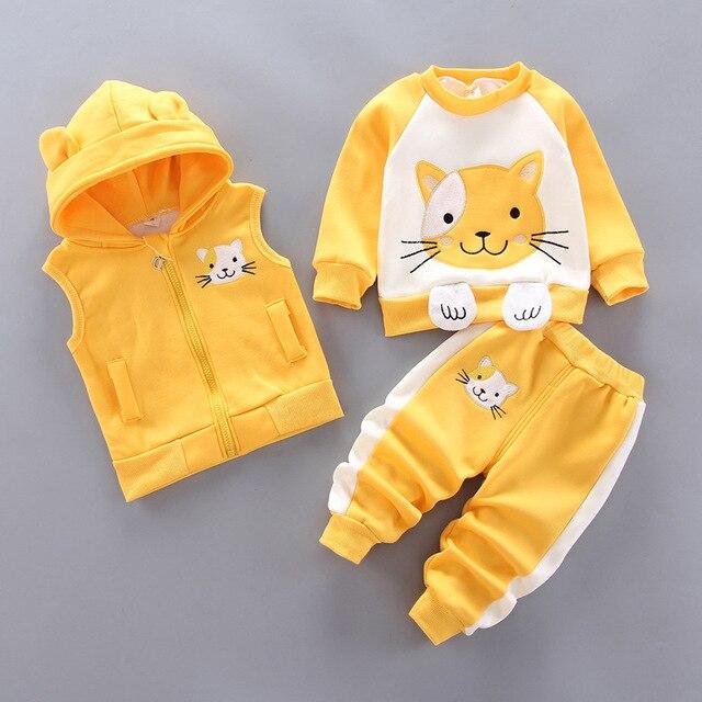 Next Baby's Cute Plush Vest, Sweatshirt and Pants 3 Pcs Set 3
