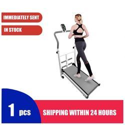 Bieżnia Fitness wielofunkcyjna z drążkiem do siedzenia mechaniczna bieżnia Unisex sportowa maszyna do ćwiczeń fitness HWC|Bieżnie|   -