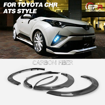 Carbon Fiber Fenders For Toyota CH-R ATS Style Wide Fender Set 6Pcs(10mm wider&15mm lowered) Body Kit Tuning Trim For CHR Racing