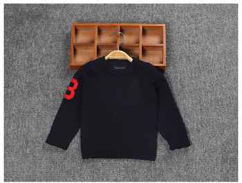 kid's number3 big pony polo sweater top Children's wear long sleeve sweater  embroidered homme pullovers camisa masculine flower embroidered long sleeve ruffled top