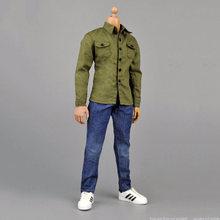 1/6 масштаб мужской одежды костюм армейский зеленый пальто и