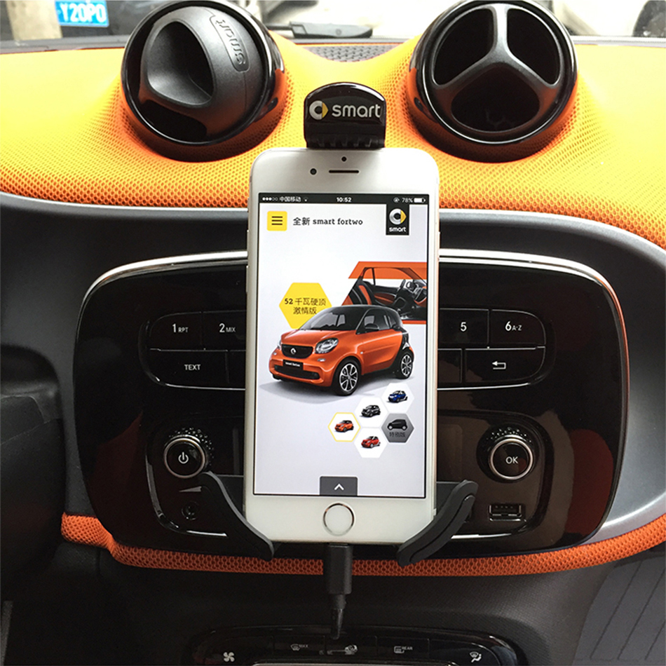 Smart 453 Fortwo smart 453 Forfour 360 Rotation Mobile Phone Holder car air vent mount GPS car mobile phone holder|Anti-Slip Mat| |  - title=
