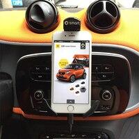 Smart 453 fortwo inteligente 453 forfour 360 rotação titular do telefone móvel do carro de ventilação de ar montagem gps carro telefone móvel titular Tapete antiderrapante     -