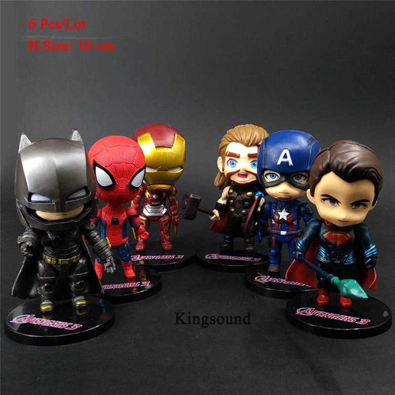 Superbohaterowie tort urodzinowy topper cupcake lalki avengers figurki ozdoba na wierzch tortu zabawki dla dzieci dzieci impreza dla dzieci prezenty