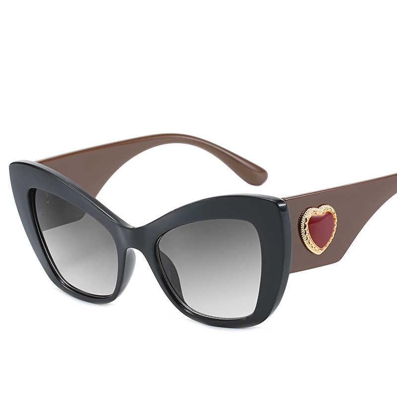 Designer de óculos de sol das mulheres 2019 alta qualidade do vintage cat eye óculos de sol marca luxo para as mulheres okulary shades gafas
