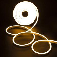 220V Waterproof Led Strip Neon Light 2835 SMD Flexible Rope Lamp 120 Leds/M High Brightness Outdoor Indoor Decoration