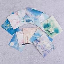 10 шт. милый китайский Винтажный стиль цветы бумажный конверт для письма креативные канцелярские бумажные открытки Скрапбукинг